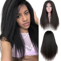Yaki Kinky Straight Full Lace Wigs Human Hair No Chemical No Tangle