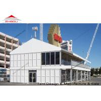 China A Shape Double Decker Tent Prefabricated House With Strong Galvanized Steel Pole wholesale