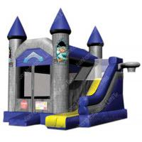 Cheap PVC tarpaulin Jungle Inflatable Bounce House 0.55mm With Slide wholesale