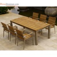 Buy cheap Hotel Outdoor Restaurant Furniture Wooden Dining Chair with Metal Frame from wholesalers