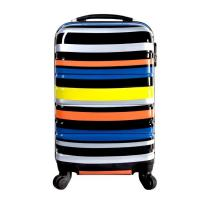 Cheap ABS waterproof oil proof ABS+PC travel trolley hard shell printing travel trolley hard she wholesale
