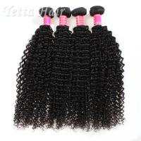 Kinky Curly Burmese Virgin Hair Bundles , No Tangle Real Wavy Hair