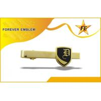 Cheap Gold Plated Brass Custom Tie Clips For Promotion / Business Gifts wholesale