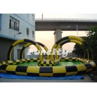 Quality Clear PVC / TPU Inflatable Zorb Ball with 3m outer diameter / 2m inner diameter with Ramp for sale