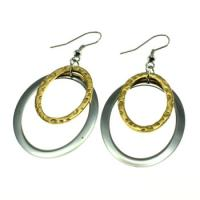 Cheap Double Circle Oval Fish Hook Earrings Lead And Nickel Free For Party wholesale