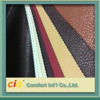 China Non - Fading Embossed PVC Artificial Leather Material / For ArmChair , CE REACH Approval wholesale
