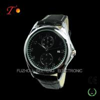 Cheap Pu Leather Mens Business Watch with Date Calendar and small second wholesale