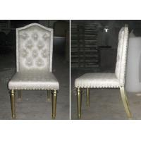 Buy cheap OEM Hotel Gold Leaf Fabric Modern Dining Room Chairs With Button - Tufted from wholesalers