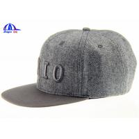 Cheap Fashion Adjusted Snapback Embroidery Baseball Cap and Hat with 15% Wool 85% Polyester wholesale