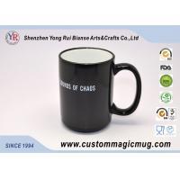 Cheap Personalised Magic Photo Mug , Porcelain Black Color Changing Mug wholesale