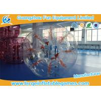 China Clear 1.5M Conventional Human Bumper Bubble Ball High Temperature Welding wholesale