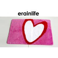 Cheap Polyester Bathroom Floor Mats Heart Printed design for Shower Room / Toilet wholesale