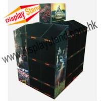 Cheap Black Durable Paper Cardboard Pallet Display with four sides wholesale