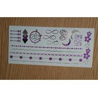 Cheap Customized Purple foil Sex Metallic Tattoo Sticker for arm or leg wholesale