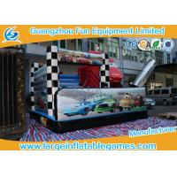 Buy cheap 5*5*4M PVC Tarpaulin Inflatable Bouncy Castle Car Theme Slide for kids from wholesalers