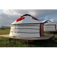 China Floral Comfortable Yurt Tent House With National Features External Decorated Cloth wholesale