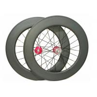 25mm Width Carbon Track Bike Wheels 700c 88mm Matte / Glossy Finishing