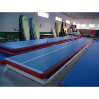 Quality Portable Inflatable Gym Mat , Air Floor Tumbling Mat For Injuries Preventing for sale