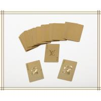 Cheap Golden  / silver foil LV Brand 24K customized foreign playing cards FOR business gifts wholesale