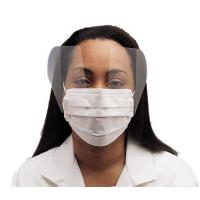 Fluid Resistant Medical Face Mask Single Use , Surgical Mask With Face Shield