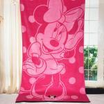 China Plain Woven Jacquard Beach Towel Minnie Mickey Mouse Reactive Printed wholesale
