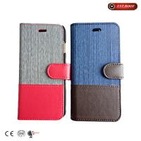 Cheap Premium PU Leather Cell Phone Cases Iphone 6 Covers , Book Style wholesale