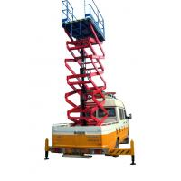 500Kg truck mounted scissor lift aerial working platform for painting / cleaning
