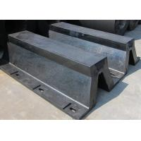 Arch Type Commercial Dock Fenders , Black Rubber Boat Dock Bumpers 52.5% Deflection