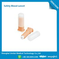 China Easy Handling Disposable Blood Lancet For Blood Sugar Less Pressure Powder wholesale