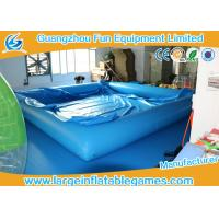 Buy cheap 0.6MM/0.9MM PVC Swimming Inflatable Water Pool / Air Tight Water Pool With Cover from wholesalers