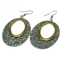 Cheap Stainless Steel Textured Fish Hook Earrings Gold And Silver For Promotion wholesale