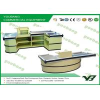 Cheap Custom Electric Supermarket cash register with conveyor belt  powder coating wholesale