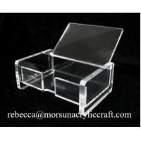 Cheap Exquisite clear acrylic business name card holder, lucite memo holder wholesale