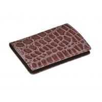 Cheap Custom Made Brown Leather Business Card Holder wholesale