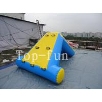 China Commercial 0.9mm PVC Tarpaulin Inflatable Big Air Slide / Blob For Water Park wholesale