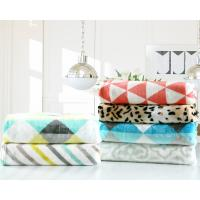 China Printed Geometric Flannel Fleece Blanket 200x220cm 220x240cm For Sofa And Chair wholesale