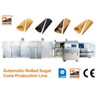 China CE Certified Automatic Sugar Cone Production Line With Fast Heating Up Oven , 63 Baking Plates Ice Cream Cone Productio wholesale