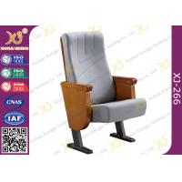 Commercial Molded PU Foam Auditorium Chairs With Floor Mounted Fabric Cover