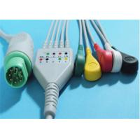 China Siemens Drager 5 Lead ECG Patient Cable For Patient Monitor 10 Pin Connector wholesale