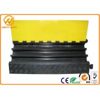 Heavy Duty Rubber Yellow Jacket Cable Covers 3 Channels 900 x 500 * 75 mm 17kg Weight