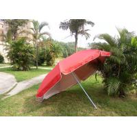 China Red Outdoor Advertising Umbrellas With 420D Polyester Fabric , Water Tank Base wholesale