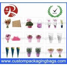 Cheap Colorful Custom Packaging Bags , 0.02mm - 0.05mm OPP Flowers Sleeve wholesale