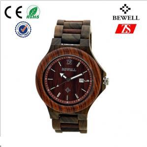 Elegant Natural Wooden Wrist Watch Slingshot Buckle With Japan Quartz Movt