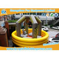 Buy cheap Yellow Large Inflatable Games / Wrecking Ball Inflatable Bouncy Castle from wholesalers