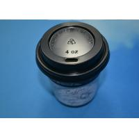 Cheap White / Black Disposable Paper Cup Lids For Ice Coffee / Beverage 8oz 12oz wholesale