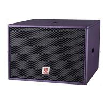 club subwoofer single 18'' 800W RMS purple color bass professional loudspeaker system power speaker box