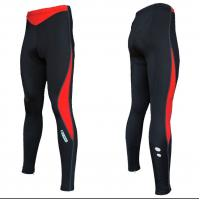 Cheap Custom Sublimated Cycling Wear Runner Lycra Long Pants without pad  Black / Red wholesale