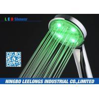 Cheap Green Color Handheld Led Rain Shower Head without battery For Bath wholesale