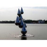 China Outdoor Abstract Stainless Steel Garden Sculptures , Decoration Metal Garden Ornaments wholesale