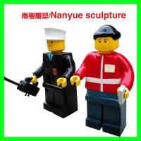 cartoon statue lego character statue   life size colorful  as decoration model in children amusement garden